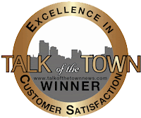 Talk of the Town Winner for Excellence in Customer Service